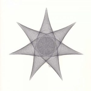 7 Point Star Drawing © Copyright Mary Wagner