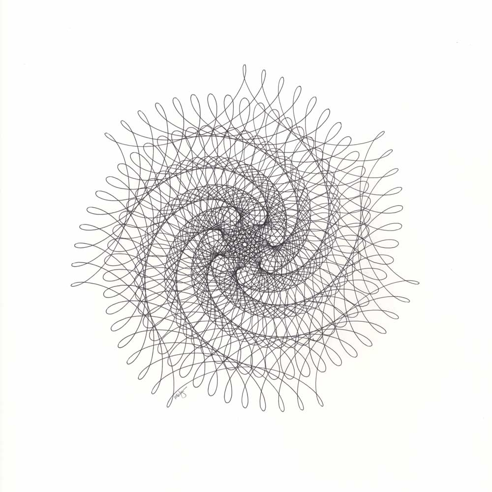 Spiral Spider Web Drawing Mary Wagner
