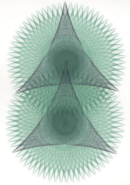 Green Circles with Black Triangles ©Mary Wagner