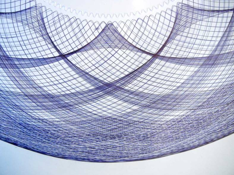 Ballpoint pen drawing of detail of cusps of epitrochoid.