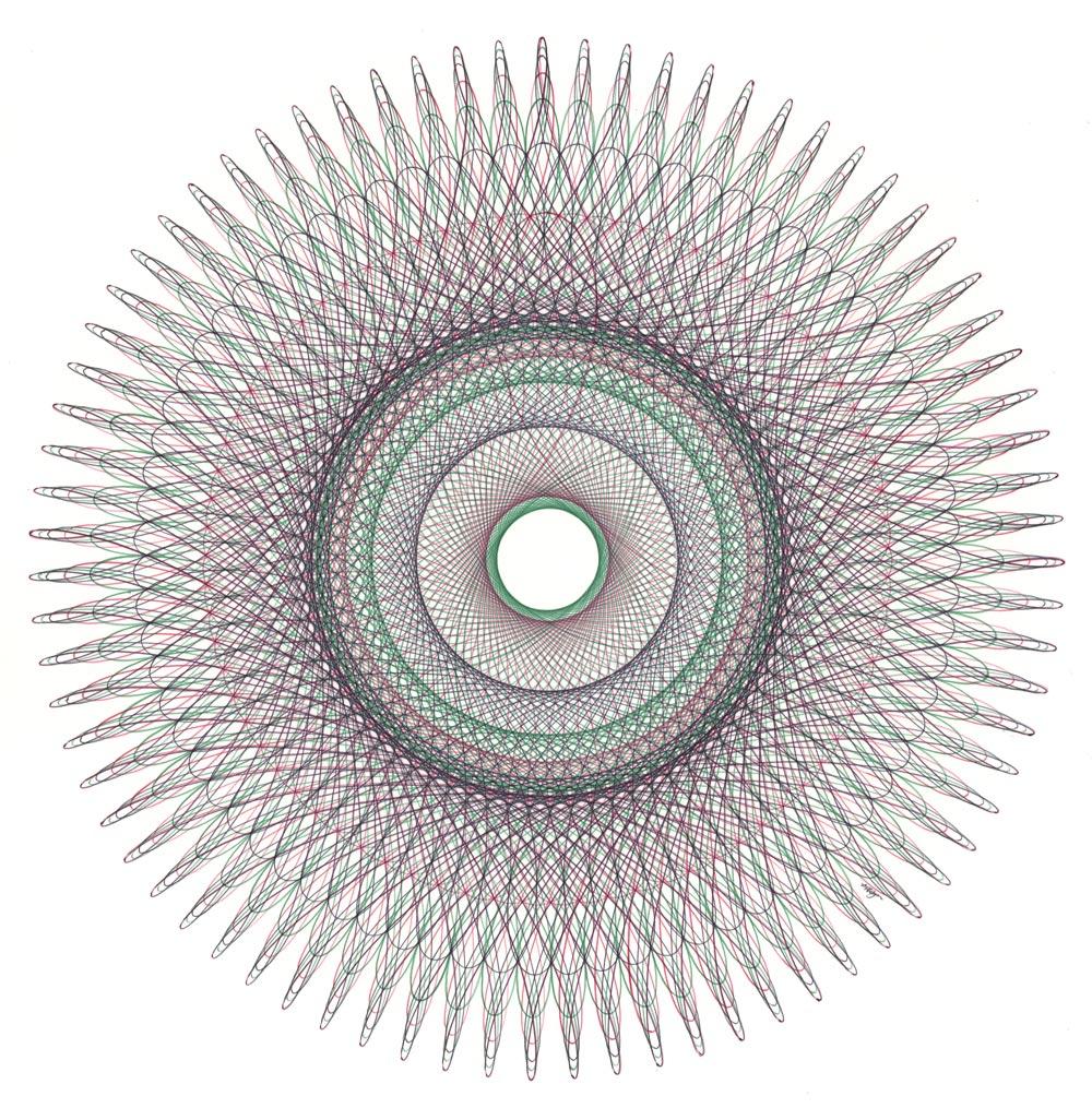 Fibonacci Sequence Ballpoint Pen Drawing Mary Wagner