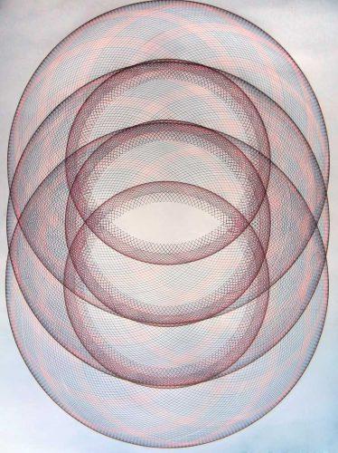 """third eye"" Triple Epitrochoid Drawing Copyright Mary Wagner"