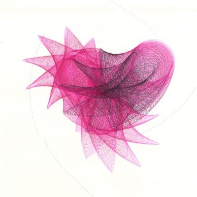"""""""Pink Fairy"""" A tiny pink imaginary being fluttering through the air. Copyright Mary Wagner"""