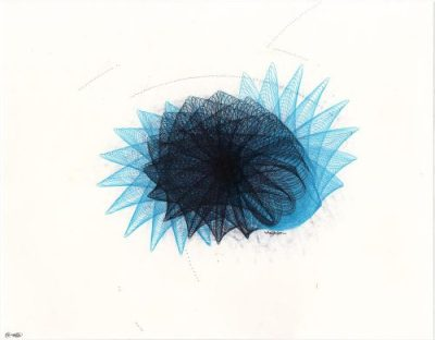 Into the Blue motion drawing Copyright Mary Wagner