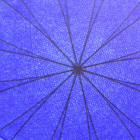 """Detail of the center of """"Blue Rose"""" drawing."""