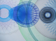 """Detail of work in progress """"Resonance Disaster Landscape"""" ink, pencil, color pencil. 8 x 4 feet so far."""