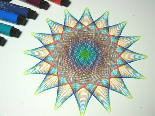 Rainbow Star drawing, 8 x 8 inches, © Copyright Mary Wagner