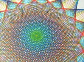 Rainbow Star drawing, 8 x 8 inches, on Strathmore 500, 100% cotton bristol board