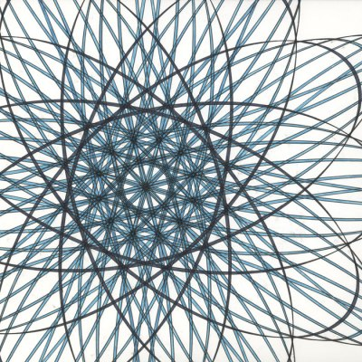 Aqua Star Flower, Copyright Mary Wagner