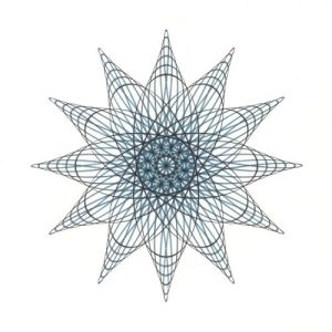 Aqua Star Flower Copyright Mary Wagner
