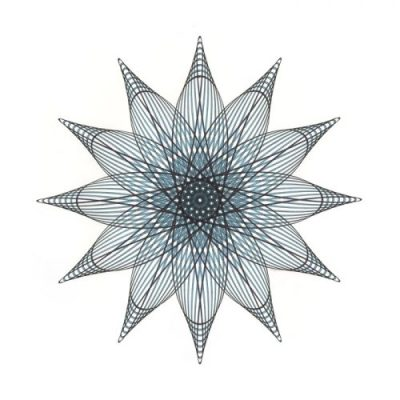 Aqua Star Flower 2 Copyright Mary Wagner