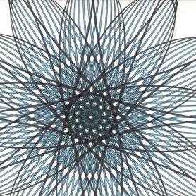 Detail of the center of Aqua Star Flower 1