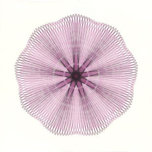 """Pink Illusion"" Pink and black ink drawing on bristol board. 23-inch diameter. Copyright Mary Wagner"