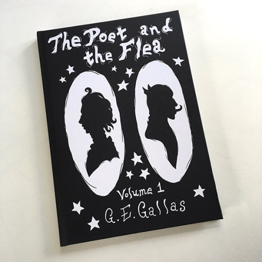 """Cover of """"The Poet and the Flea"""" Volume 1."""