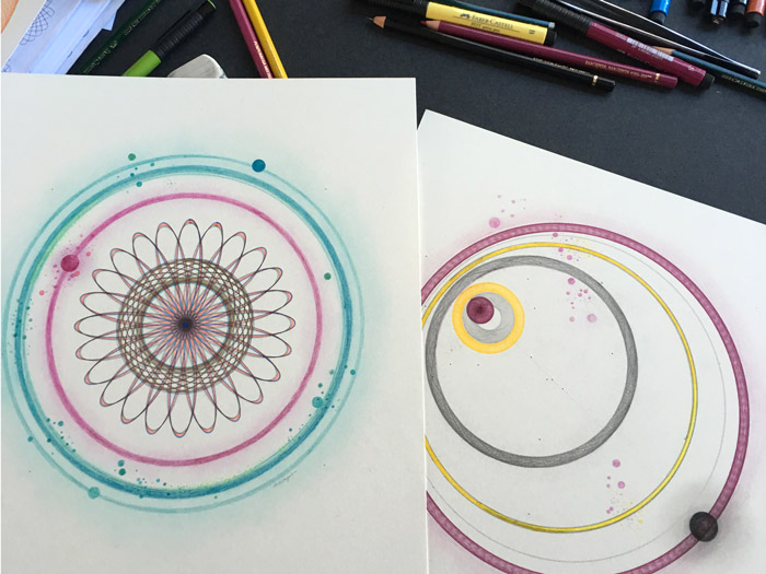 "Two of the nine planets in my ""Rainbow Solar System"" series."