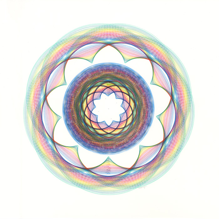 """1:4 scale drawings for """"Rainbow Twist"""""""