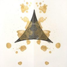 """""""Untitled Triangle"""", 12x9, ink and paint on paper. ©Copyright Mary Wagner"""