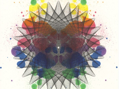 """""""Color Spectrum"""", 14x11, ink on paper. ©Copyright Mary Wagner"""