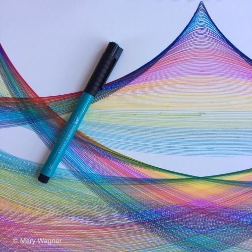 Rainbow color palette.