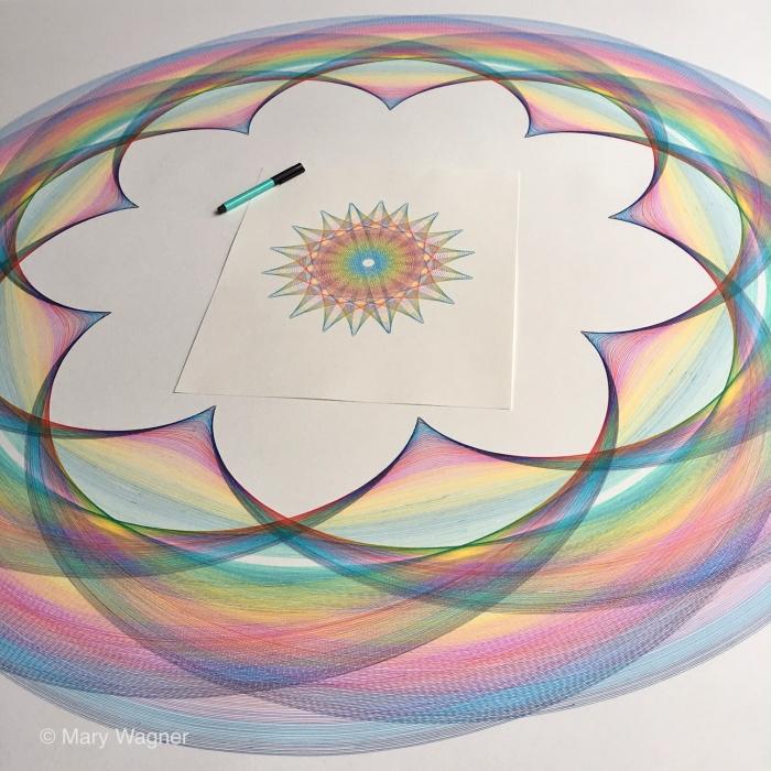 Rainbow drawing