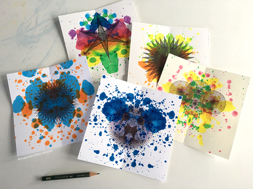 Mini Ink Blot Paintings ©Copyright Mary Wagner