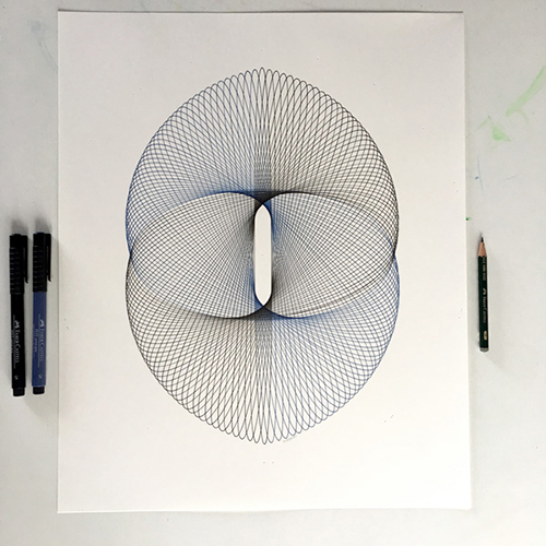 """Binary"" Copyright Mary Wagner www.parametricdrawing.com"