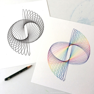 """Orbit"" and ""Realm"" Copyright Mary Wagner www.parametricdrawing.com"