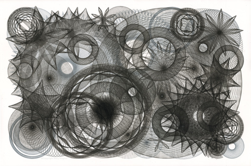 """The Chaos Myth"", black and grey pigment ink on 100% cotton paper. ©Copyright Mary Wagner www.marywagner.com"