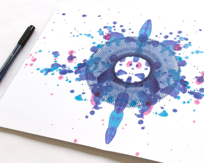 WATER BLOSSOM, ink on paper. Copyright Mary Wagner. All Rights Reserved. MaryWagner.com