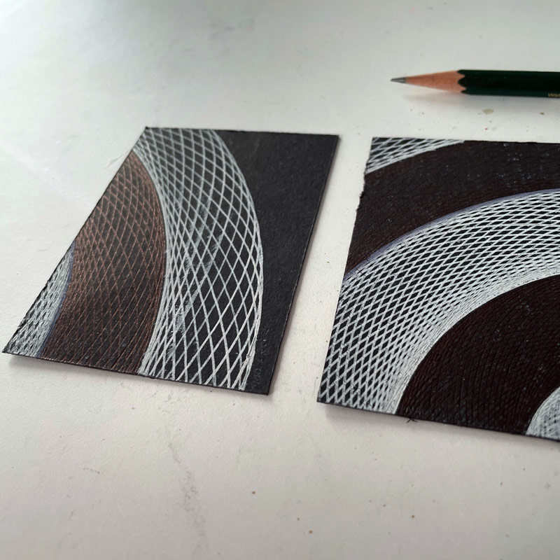 """Orbits"" set of 4 drawings by Mary Wagner"
